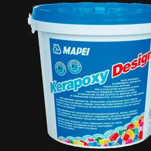 Затирка швов эпоксидная Mapei Kerapoxy Design №745 (неро плюс) 3 кг.