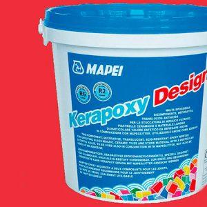 Затирка швов эпоксидная Mapei Kerapoxy Design №750 (красный) 3 кг.