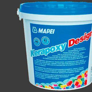 Затирка швов эпоксидная Mapei Kerapoxy Design №114 (антрацит) 3 кг.
